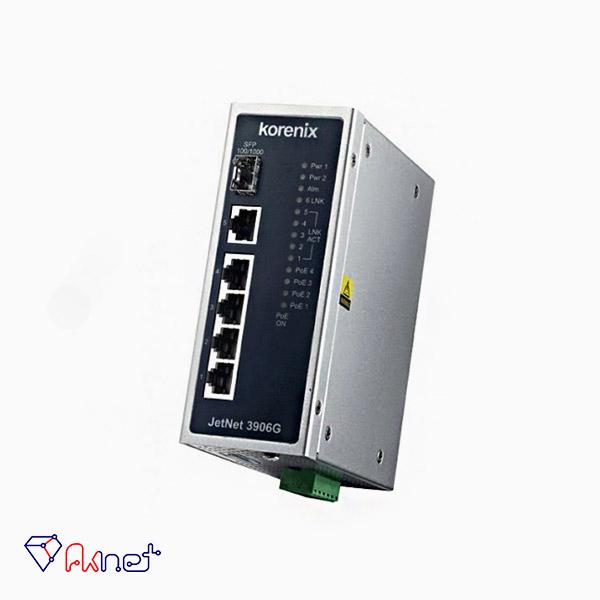 سوئیچ صنعتی کرنیکس-Korenix JetNet 3906G Switch